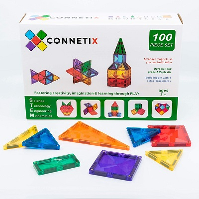 CTX Magnetic Tiles Building Set 100 Pieces