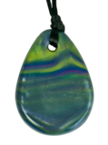 "Raindrop Pendant Multi Colour Blue Green Purple  - ""Aurora"""