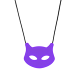 Cat Pendant - Puuurple