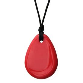 "Raindrop Pendant - Red - ""Dorothy"""