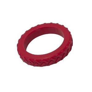 "Chewable Jewelry Tread Bangle - Red - ""Lazer"""