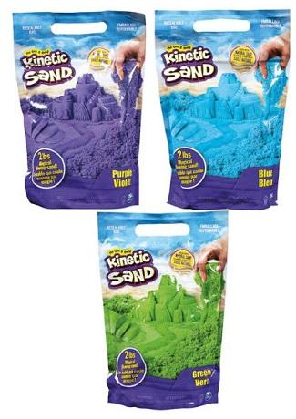 Kinetic Sand - 2 lbs (907 gms) - Blue, Green, Purple