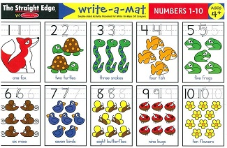 Learning Mat - Numbers 1-10