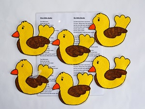 6/5 Little Ducks Felt Song