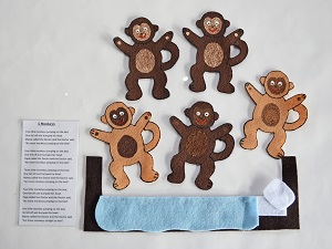 Five Little Monkey Jumping On The Bed - Only 1 Left