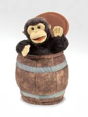 Folkmanis Monkey In A Barrel