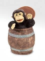 Folkmanis Monkey In A Barrel