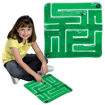 Gel Maze with Marble - Green