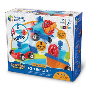 1-2-3 Build It - Car Plane Boat