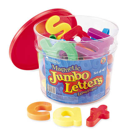 Jumbo Letters Magnetic Lowercase