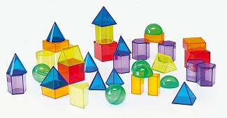Translucent Geometric Shapes -Set of 36