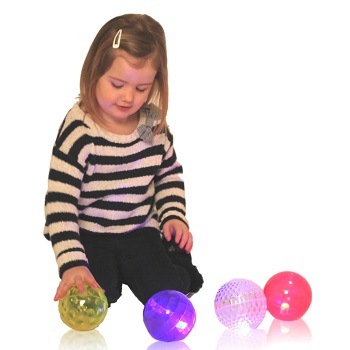 Textured Sensory Flashing Balls