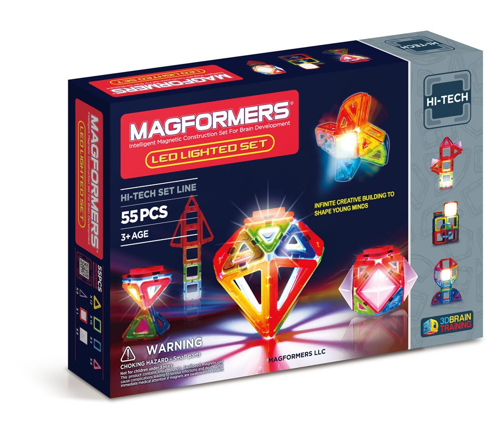Magformers 55 Piece Lighted Set