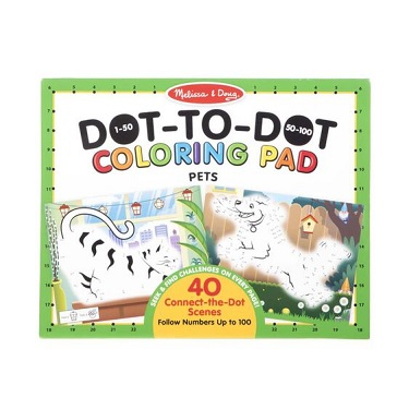 123 Dot to Dot Colouring Pads - Pets