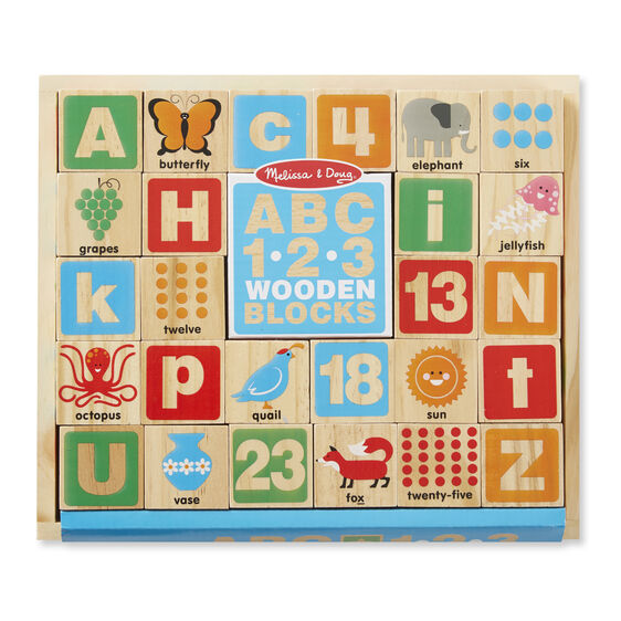ABC - 123 Wooden Blocks