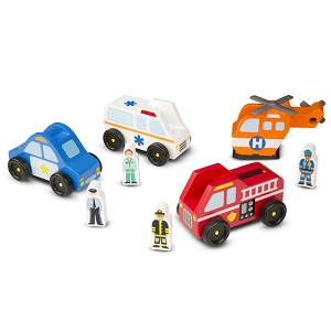 Emergency Vehicles - Wooden