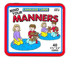 Language Picture Cards  Manners