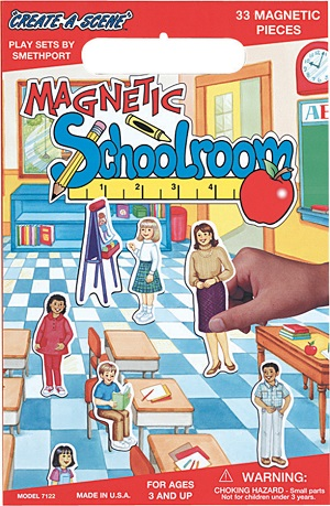 Create A Scene Magnetic Playset  Schoolroom