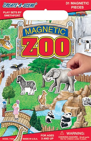 Create A Scene Magnetic Playset  Zoo