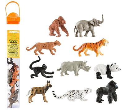 Endangered Species Figurines - Land Animals - A Safari Brand Toob