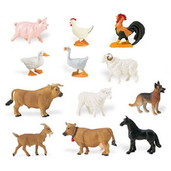 Farm Animals Play Figurines - Set of 6