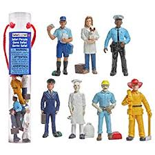 People At Work Figurines - A Safari Brand Toob