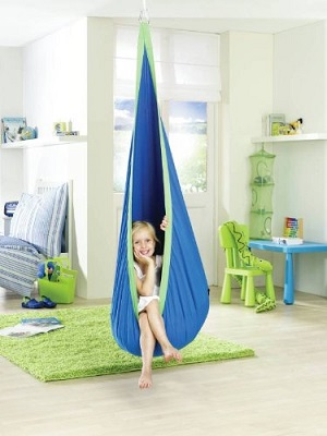 Hanging Crows Nest Soft Hammock Swing
