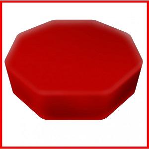 Senseez Vibrating Pillow Seat - Red Octagon