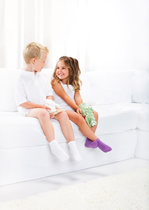 Seamless Socks by Smart Knit Kids-White