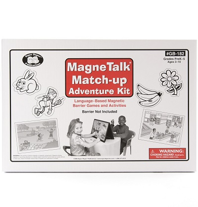MagneTalk Match Up Adventure Kit with Barrier Game Board Stand