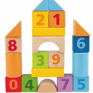 Letters and Numbers Reinforcer Bin - Count and Build Number Blocks