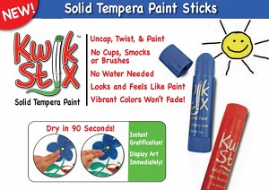 Kwik Stix Solid Tempera Paint - 6 Pack