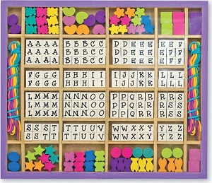 Letters and Numbers Reinforcer Bin - Alphabet Beads