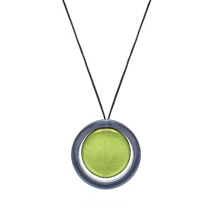 Spinner Necklace - Grey/Lime Green - 'Envy'